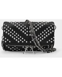 Zadig & Voltaire Rock Nano Bag In Black Leather