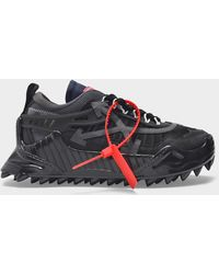 Off-White c/o Virgil Abloh Odsy-1000 Sneaker In Black Blac Leather