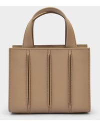 Max Mara Light Whitney Xxs Bag In Beige Leather - Natural