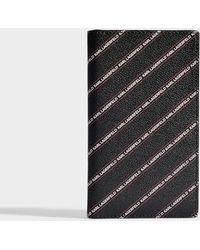Karl Lagerfeld - K/stripe Logo Travel Wallet In Black Pvc - Lyst