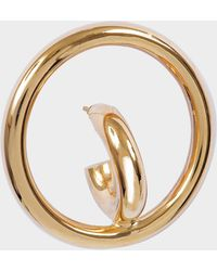 Charlotte Chesnais - Saturn Blow M Mono Earring In Yellow Vermeil - Lyst