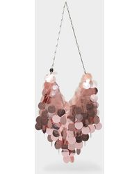 Paco Rabanne Tasche Hobo Sparkle aus lilafarbenem Polyesther - Pink