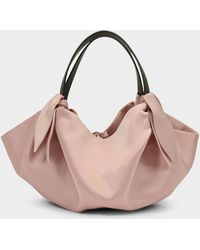 Nanushka Inda Mini Bag In Pink Satin Fabric - Multicolour