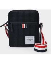 Thom Browne Sac Camera Bag en Laine Noire