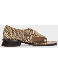 Maryam Nassir Zadeh Thompson Sandals Cape Cobra - White