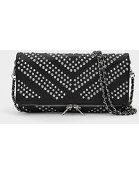 Zadig & Voltaire Rock Bag In Black Leather