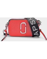 Marc Jacobs Snapshot Fluoro Bag In Hot Pink Leather With Polyurethane Coating