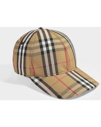 Burberry - Casquette de Baseball Vintage Check en Coton Beige - Lyst 3ef82239f4b