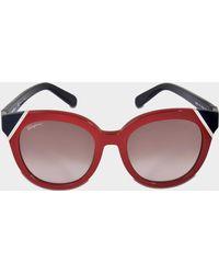 Ferragamo - Colorblock Tea Cup Sunglasses - Lyst