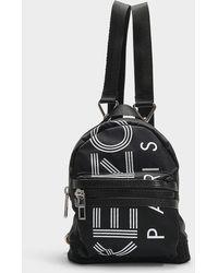 KENZO Rucksack Sport Mini Backpack In Black Nylon