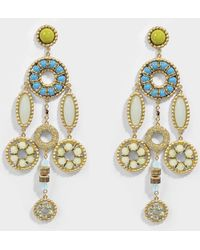 Marc Jacobs - Jeweled Statement Earrings In Blue Brass - Lyst