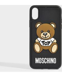 Moschino - Toy I-phone 8 Case In Black Pvc - Lyst