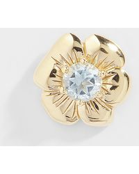 Aurelie Bidermann Floral Pansy Mono Earring - Blue
