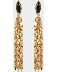 Sylvia Toledano - Leaves Earrings In Gold-plated Brass With Black Onyx - Lyst