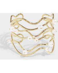 Aurelie Bidermann - Cheyne Walk Cuff Bracelet In White - Lyst