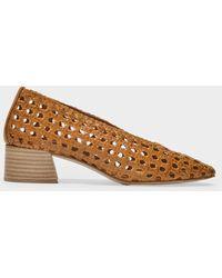 Miista Taissa Sandals In Camel Leather - Brown