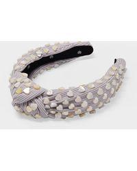 Lele Sadoughi Heart-studded Pink Knotted Headband
