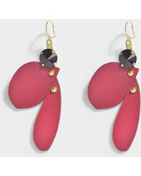 Marni - Petal Earrings In Dry Rose Resin - Lyst