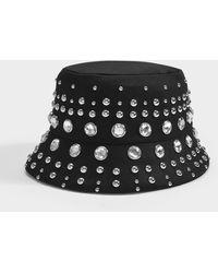 Burberry Crystal-embellished Bucket Hat - Black