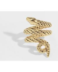 Aurelie Bidermann - Asclepios Ring In Gold Metal - Lyst
