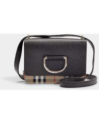 Burberry - D-ring Mini Bag In Black Goatskin - Lyst
