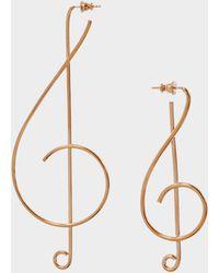 Stella McCartney - Treble Clef Earrings - Lyst