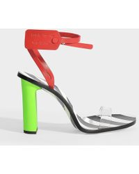 d249d4b264ac Off-White c/o Virgil Abloh - Zip Tie Striped Sandals In Green,