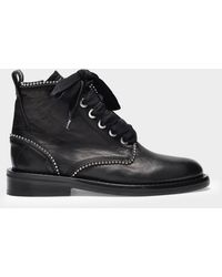 Zadig & Voltaire Ankle Boots Laureen Roma In Black Patent Leather