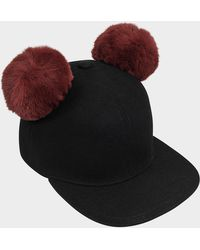 Karl Lagerfeld - K/cat Pom Pom Cap - Lyst