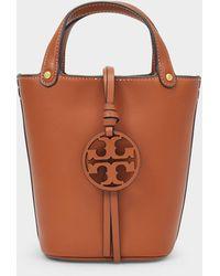 Tory Burch Miller Mini Bucket Bag - Brown