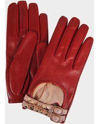 Valentino - Rockstud Driving Gloves - Lyst