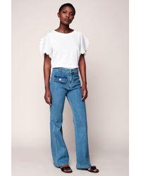 See By Chloé - Indigo Denim Flared Jeans - Lyst