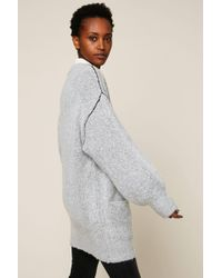 Cheap monday Maxi Cardigan in Blue | Lyst