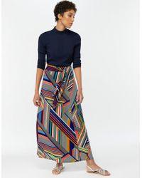 1978d45cee Monsoon Alaya Print Maxi Skirt in Blue - Lyst