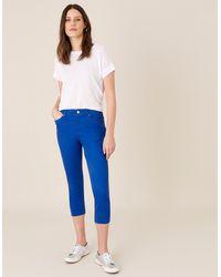 Monsoon Blue Slim Idabella Cropped Jeans, In Size: 22