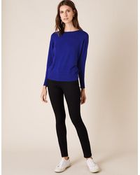 Monsoon Star Stud Knit Jumper Blue