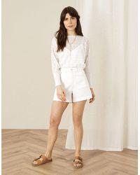Monsoon White Denim Shorts, In Size: 20