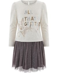 Monsoon All That Glitters Top And Skirt Set - Grey