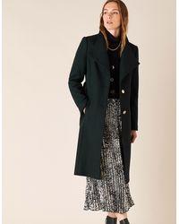 Monsoon Green Ruby Long Coat, In Size: 14