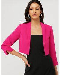 Monsoon Juni Sustainable Cropped Smart Jacket - Pink