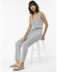 Monsoon - Sofia Bagru Jumpsuit - Lyst