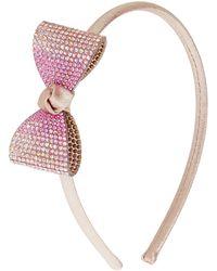 Monsoon Gold Ombre Diamante Bow Headband - Metallic