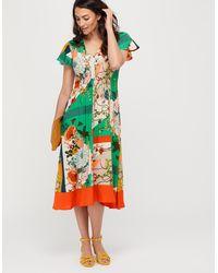 0db1f6561dd5c Monsoon Alaya Print Midi Dress in Blue - Lyst