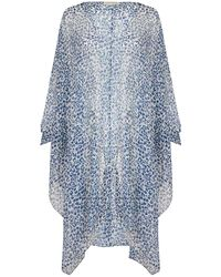 Monsoon Leopard Print Open Cover-up - Blue