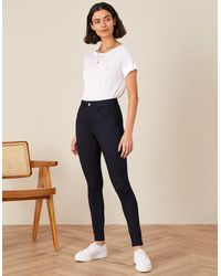 Monsoon Blue Nadine Short Length Jeans With Organic Cotton, In Size: 14