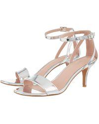 4f937aa53b8 'scarlett' Strappy Mirror Sandals - Metallic