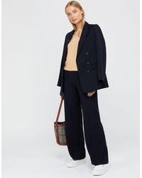 Monsoon Paige Pinstripe Trousers - Blue