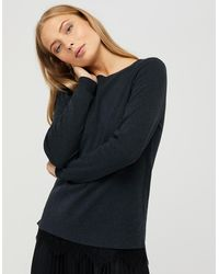 Monsoon - Keira Lace Hem Jumper With Recycled Polyester - Lyst