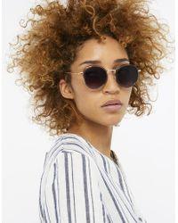 Monsoon - Rae Round Preppy Sunglasses - Lyst