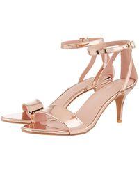 17eddf91a42 'scarlett' Strappy Mirror Sandals - Metallic